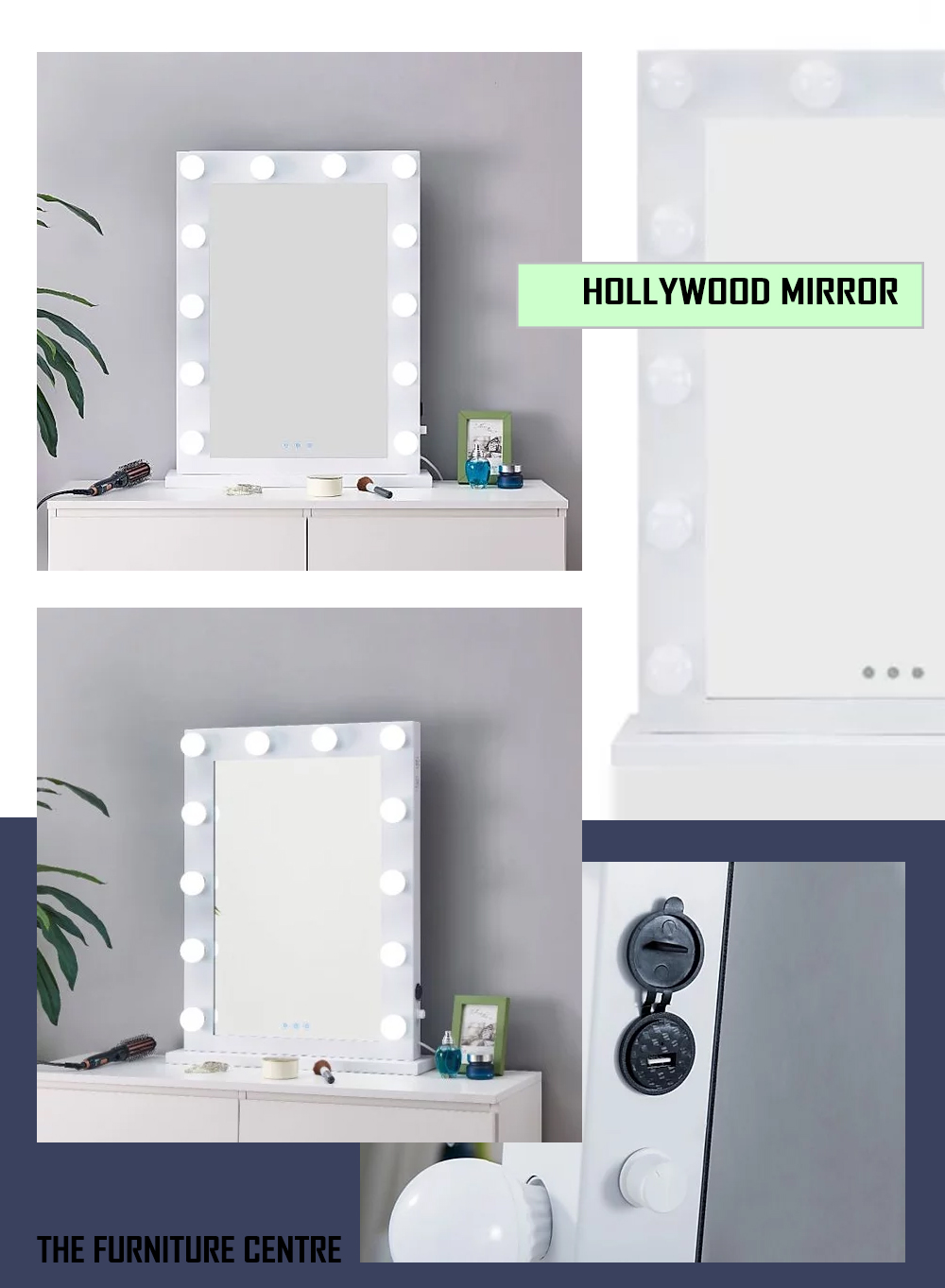 Hollywood Mirror The Furniture Centre Cork
